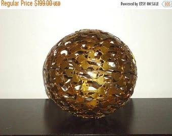 50% OFF Beautiful Vintage Decorative Large Bronze Floor Key Sphere