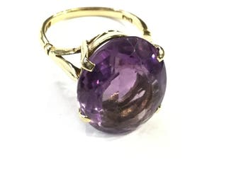 Vintage Amethyst ring,9ct gold Hallmarked