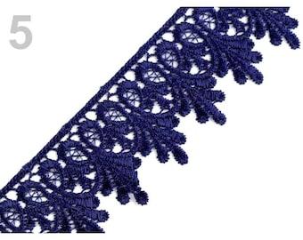 Guipure lace blue 55 mm