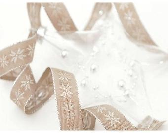 Lurex and jacquard ribbon 15 mm