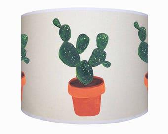 lamp shade/ ceiling light/ pendant light/ cactus shade/ drum lampshade/ lighting/ handmade/ home