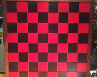 Classic Rustic Checker Board With Handspun Checkers