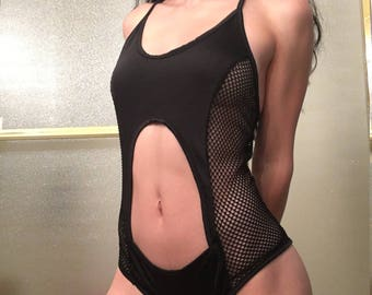 Fishnet bathing suit