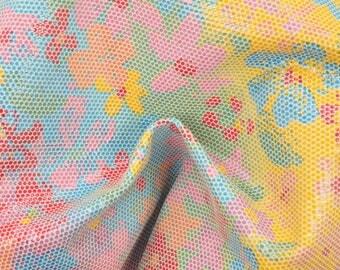 """Fashion Groovy Garden Leather Pig Hide 8"""" x 10"""" Project Piece 1 oz TA-56931 (Sec. 4,Shelf 7,B)"""