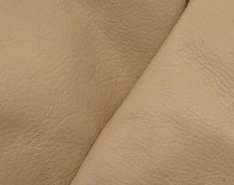 """Leather Cow Hide Scrap 1 pound Almond Joy """"Signature"""" flat grain DE-59404 (Sec. 5,Shelf 1,D)"""