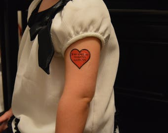 28 Emergency Contact/Safety Temporary Tattoos