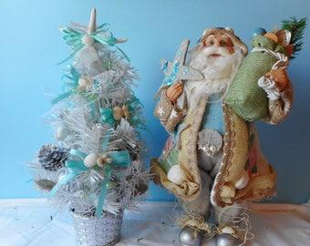 Sea Shell Christmas Tree-SeaShell Santa-Coastal Christmas