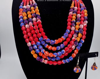 Fabric Necklace Set