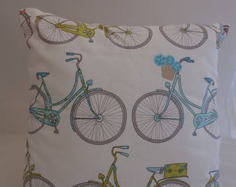 Pillow - Bicycles design feature cushion, complete with cushion pad, zip fastening