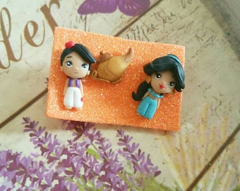 Aladdin Jasmine Lamp fimo Clay studs disney earrings fimo