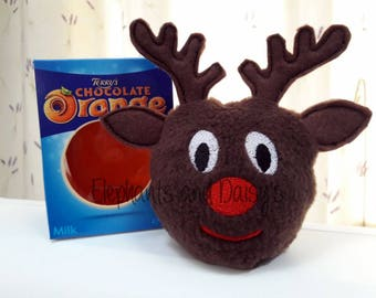 Rudolf Chocolate Orange Cosy Embroidery design file