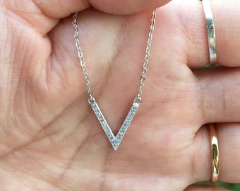 Sterling Silver CZ Cubic Zirconia Necklace