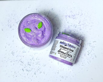 Whipped Soap Snow fairy - Fluffy whipped soap, creamy soap, Cream Fluff, Whip Soap, Soap in a Jar, Christmas , Fall scent apple Sugar plum