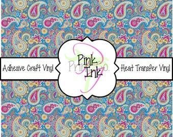 Beautiful Paisley Craft Vinyl and Heat Transfer Vinyl Pattern 424
