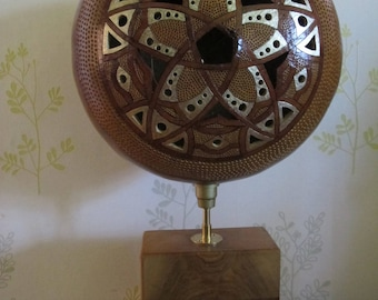 original lamp in squash gourd type flat from Corsica