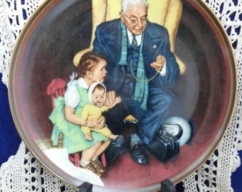 Tender Loving Care Plate with COA, Norman Rockwell Plate, Collector Plate Rockwell,Norman Rockwell The Ones we Love Series, Norman Rockwell
