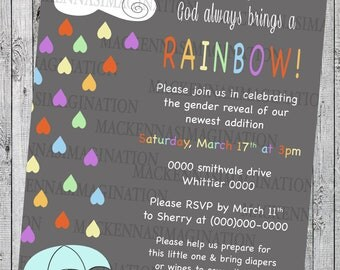 Rainbow Baby Shower Invitation-DIGITAL