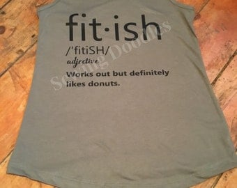 FitiSH But Likes Donuts Racerback Tee