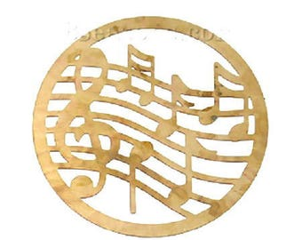 filigree brass music note print