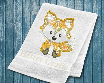 Cute Little Fox Machine Embroidery Design