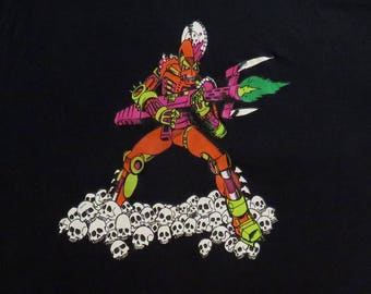 80's Vintage T Shirt Science Fiction Villain Thrill Kill NOS Deadstock