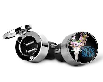 Monogrammed USB Car Charger | Custom Design | Car Charger | Monogrammed Gift