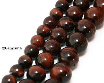 Over 90 beads 4mm Red Tiger Eye red Tiger eye