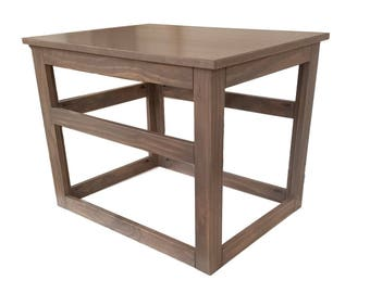 medium wooden cover for wire crate for dog or cat end table night stand