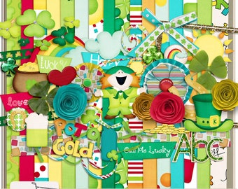 Call Me Lucky St. Patrick's Day Digital Scrapbook Kit