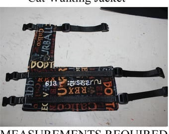 Cat Walking Jackets - Harnesses - Custom made to Measurements