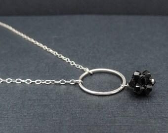 Silver Circle Dainty Necklace, Circle Layering Necklace, Delicate Necklaces For Women, Circle Necklace For Bridesmaid