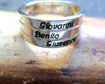 Ring Silver 925 sentence range