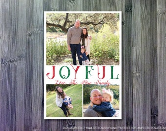 Joyful Holiday Photo Holiday Card | HC60