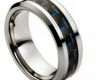 Blue Carbon Fiber Inlay – 8mm