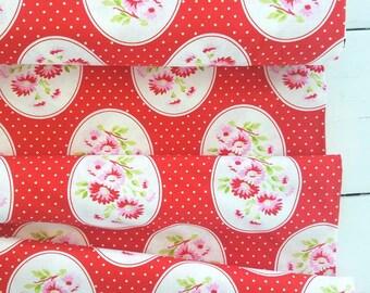 Rambling Rose - Red Granny's Wallpaper - Tanya Whelan - Free Spirit Fabrics