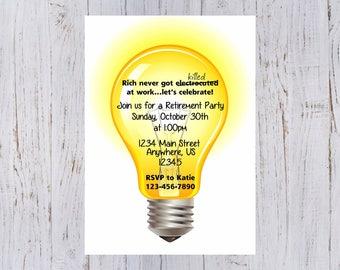 Electrician Retirement Party Invitation
