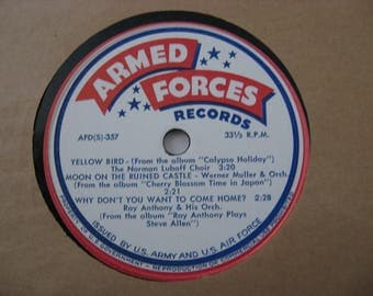 Rare! - Armed Forces Records - Della Reese - Four Lads &  Various Artist - Circa 1970's