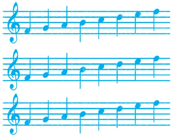 Blue Sheet Music Band Notes Birthday - Designer Strips - Edible Cake Side Toppers- Decorate The Sides of Your Cake! - D22686