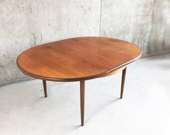 1970's G Plan mid century extendable teak dining table