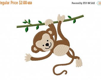 50% OFF - Baby Monkey Embroidery Design Multiple Formats Available - Instant Download