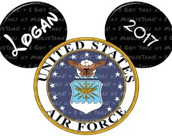 IRON-ON US Air Force Logo Ears! - Mouse Ears Tshirt Transfer