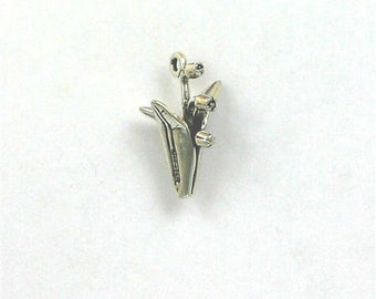 Sterling Silver 3-D Lily of the Valley Charm