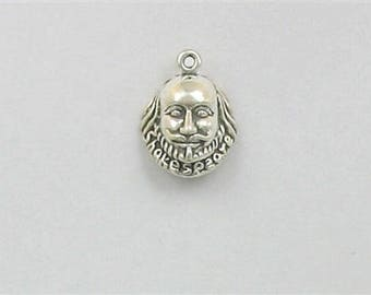 Sterling Silver Shakespeare Bust Charm