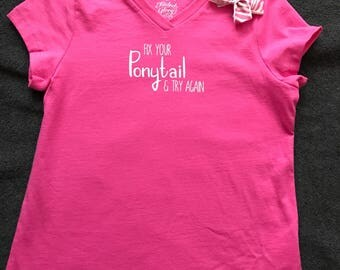Fix Your Ponytail T-Shirt & hair bow