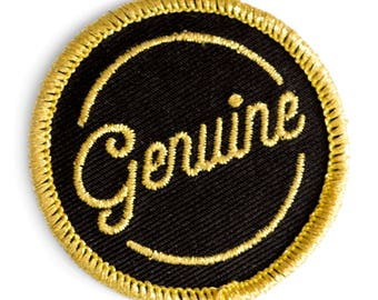 Genuine Embroidered Iron-On Patch
