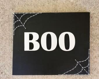 Boo Sign, Halloween Decorations, Halloween Decor, Halloween Sign, Boo Yall, Spider Web, Fall Decor, Fall Decorations, Fall Sign, Autumn