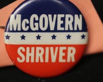 McGovern Shriver Campaign Pin