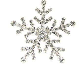2pcs Rhinestone Snowflake Flat Back Diamante Snowflakes Wholesale Winter Weddings DIY Wedding Invitation Supplies Bridal Crafts