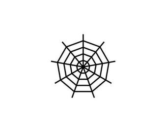 "Spider Web Stamp, mini rubber stamp, envelope packaging stamp, halloween stamp, festive stamp, decorative stamp, 0.75"" x 0.75"" (minis85)"