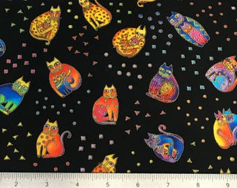 Laurel Burch Fanciful Felines OOP Fabric #90344-1M